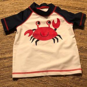9M NWOT Crabby Rash Guard/Swim Shirt